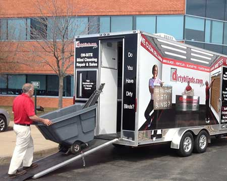 blind cleaning trailer