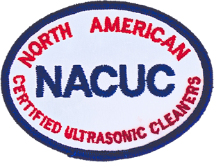 three photos of training courses and the NACUC badge